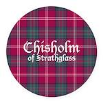 Tartan - Chisholm of Strathglass Round Car Magnet