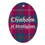 Tartan - Chisholm of Strathglass Ornament (Oval)