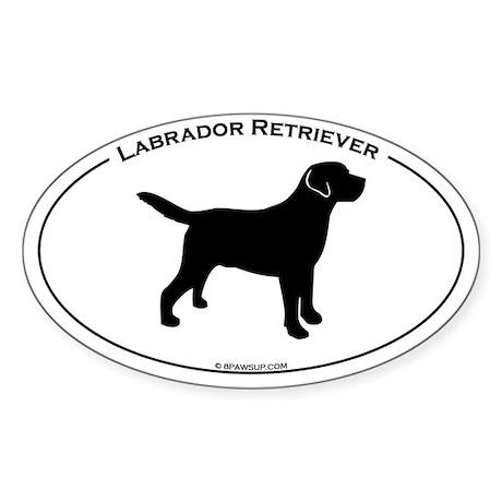 Labrador Oval Text Oval Sticker