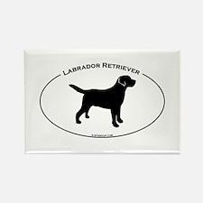 Labrador Oval Text Rectangle Magnet