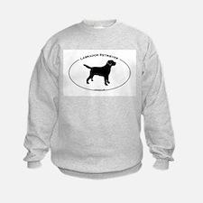 Labrador Oval Text Sweatshirt