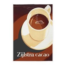 Cacao; Hot Chocolate, Vintage Poster 5'x7'area Rug