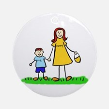 Mother and Son (Redhead) Ornament (Round)