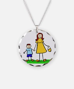 Mother and Son (Redhead) Necklace