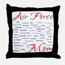 Air Force Mom Poem of words Throw Pillow