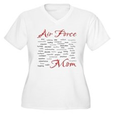 Air Force Mom Poem of words T-Shirt