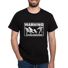 Warning Zombie Crossing T-Shirt