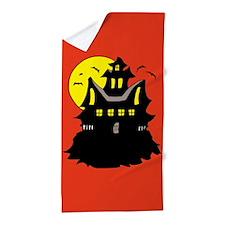 Haunted House Beach Towel