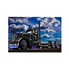 Cute Tractor trailer Rectangle Magnet