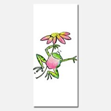 Happy Leaping Frog with Daisy Umbrella Invitations