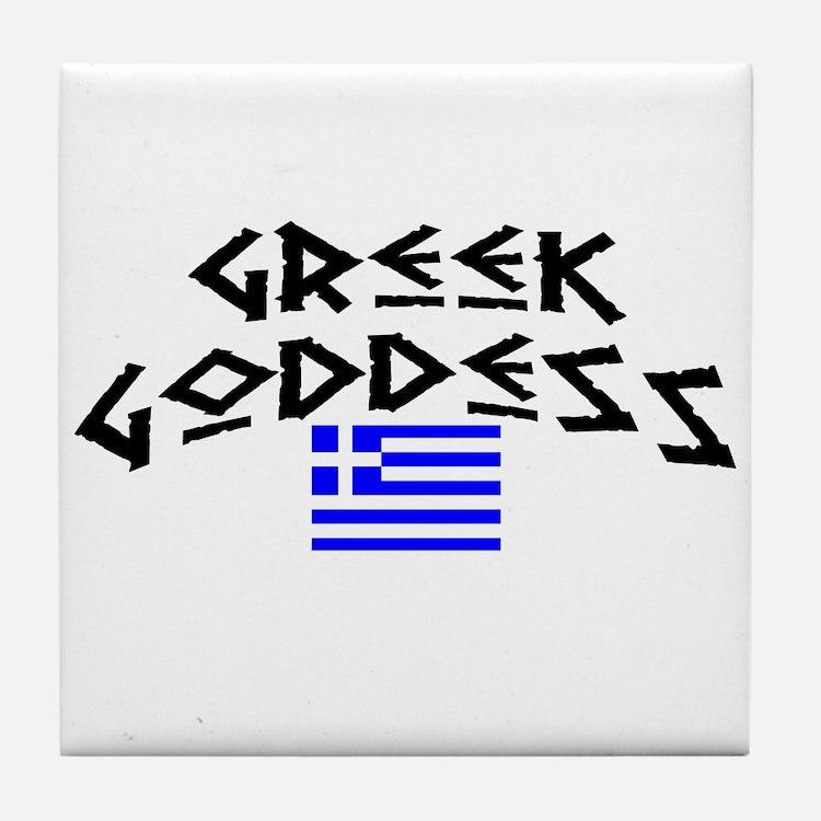 Greek Goddess Tile Coaster