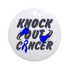 Knock Anal Cancer Ornament (Round)