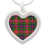 Tartan - Christie Silver Heart Necklace