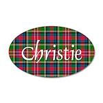 Tartan - Christie 20x12 Oval Wall Decal