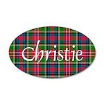 Tartan - Christie 35x21 Oval Wall Decal