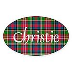 Tartan - Christie Sticker (Oval 10 pk)