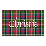 Tartan - Christie Sticker (Rectangle 50 pk)