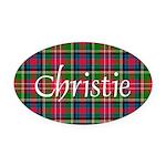 Tartan - Christie Oval Car Magnet