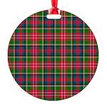 Tartan - Christie Round Ornament