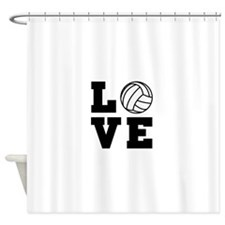 Volleyball love Shower Curtain