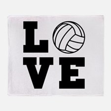 Volleyball love Throw Blanket