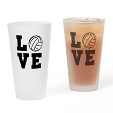 Volleyball love Drinking Glass