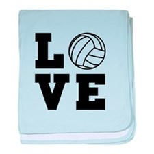 Volleyball love baby blanket