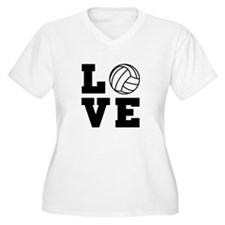 Volleyball love Plus Size T-Shirt