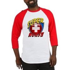 Nurse Super Hero Baseball Jersey