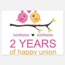 Two Years Of Happy Union 5x7 Flat Cards
