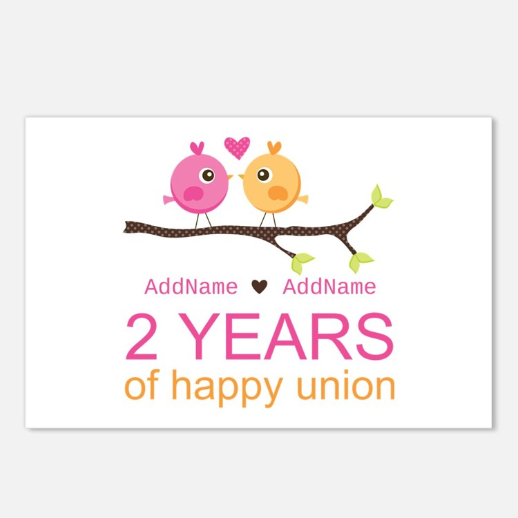 Two Years Of Happy Union Postcards (Package of 8)