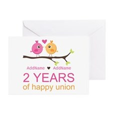 Two Years Of Happy Union Greeting Cards (Pk of 20)
