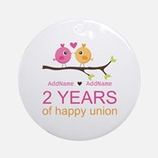 Two Years Of Happy Union Ornament (Round)