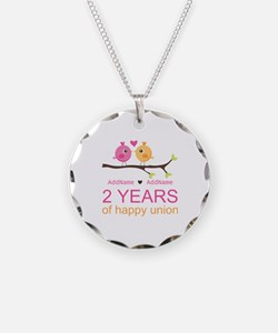 Two Years Of Happy Union Necklace