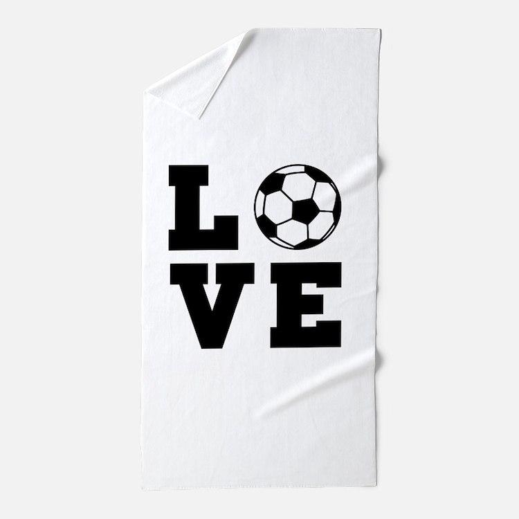 Soccer love Beach Towel