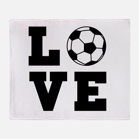 Soccer love Throw Blanket