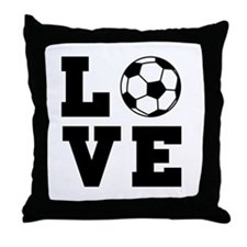 Soccer love Throw Pillow