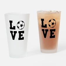 Soccer love Drinking Glass