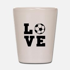 Soccer love Shot Glass