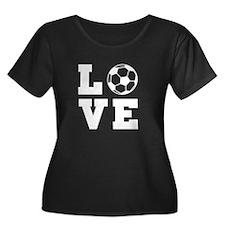 Soccer love Plus Size T-Shirt