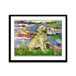 Lilies & Golden Framed Panel Print