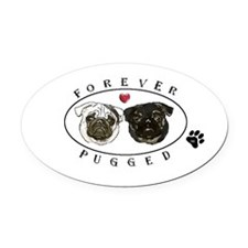 Cute Breed Oval Car Magnet
