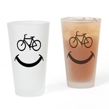 Bicycle smile Drinking Glass