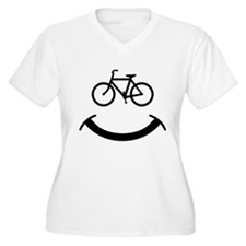 Bicycle smile Plus Size T-Shirt