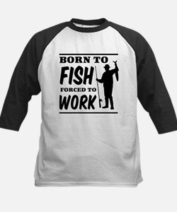 Born to fish forced to work Baseball Jersey