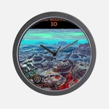 Alien Moon Mt. Biking: Io Wall Clock