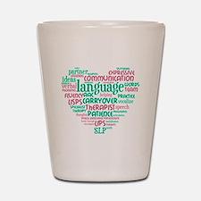 SLP Heart - Pink and Green Shot Glass