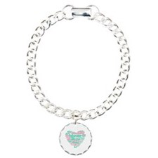 SLP Heart - Pink and Gre Bracelet