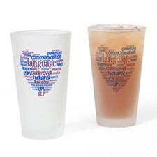 SLP Heart - Blue and Purple Drinking Glass