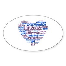 SLP Heart - Blue and Purple Decal